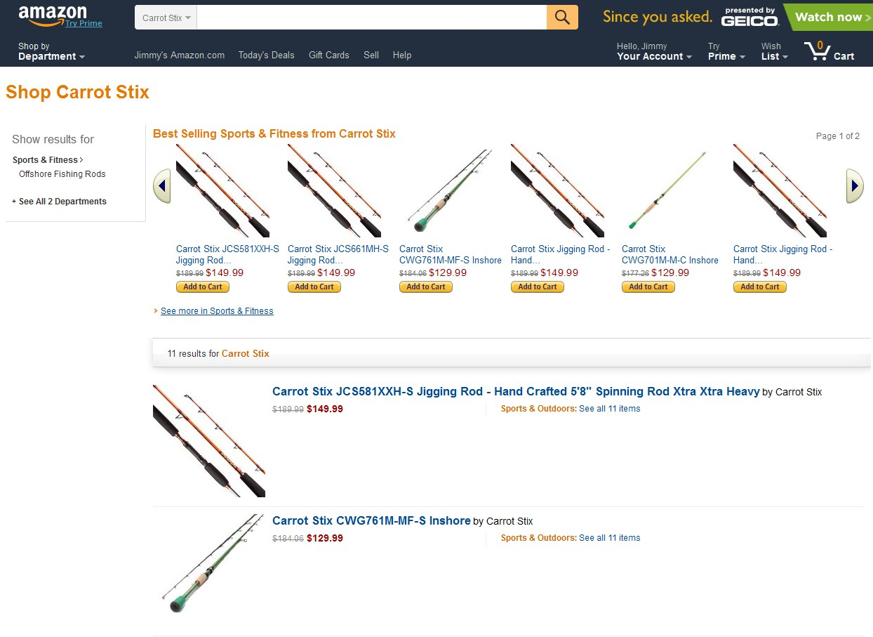 Fishing Rods for Sale on Amazon