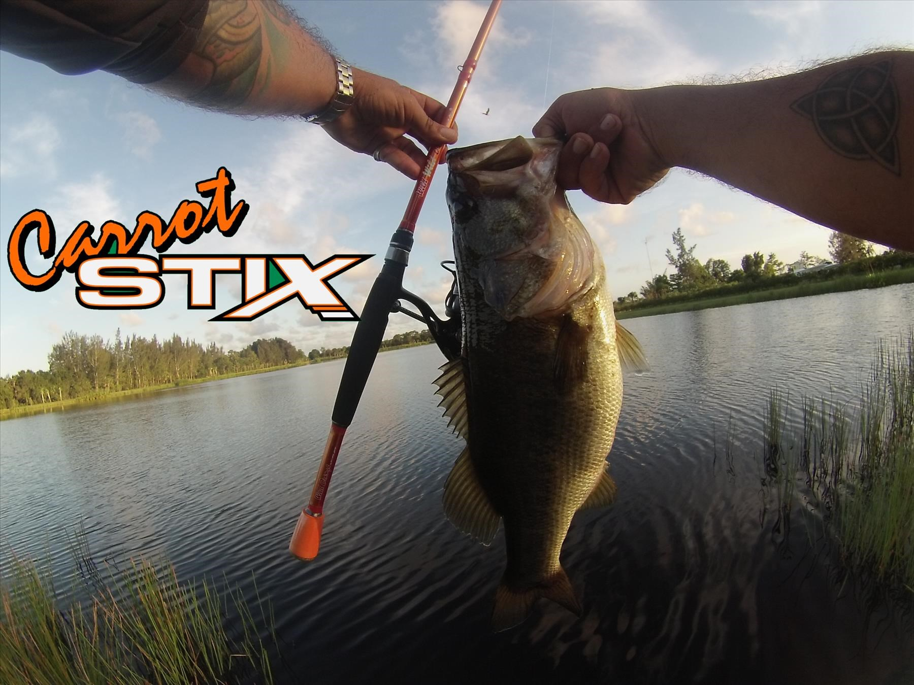 Monster bass with Carrot Stix rods Simply the best fishing rod period.
